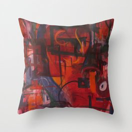 Rocket Boots Throw Pillow