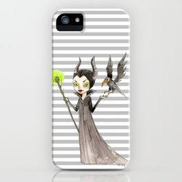 Maleficent and Diaval iPhone Case