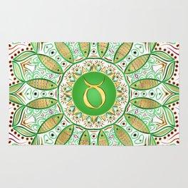 Zodiac Sign Taurus Mandala Rug