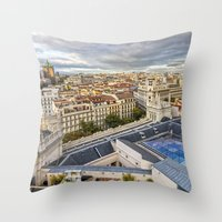 real madrid Throw Pillows featuring Madrid by Solar Designs