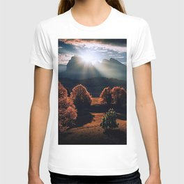Natural painting of shadow and light in Italy T-shirt