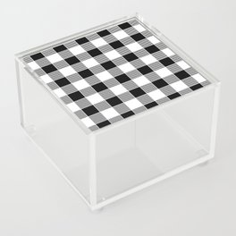 Buffalo Check - black / white Acrylic Box
