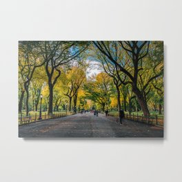 Early Morning at The Mall of Central Park in New York City Metal Print