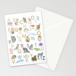 Animal Alphabet ABCs Poster Stationery Cards