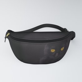 Black Cat On A Black Background #decor #buyart #society6 Fanny Pack