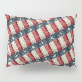 Vintage Texas flag pattern Pillow Sham