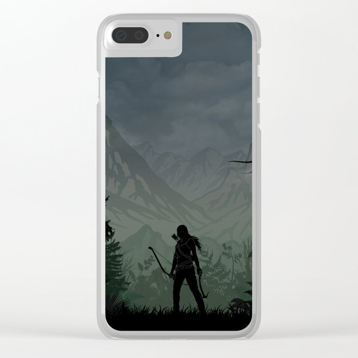 Tomb Raider | Warriors Landscapes Serries Clear iPhone Case