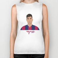 neymar Biker Tanks featuring NEYMAR - FC BARCELONE by THE CHAMPION'S LEAGUE'S CHAMPIONS