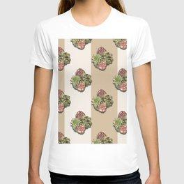 When Floral Meets Succulent (Beige & Cream) T-shirt