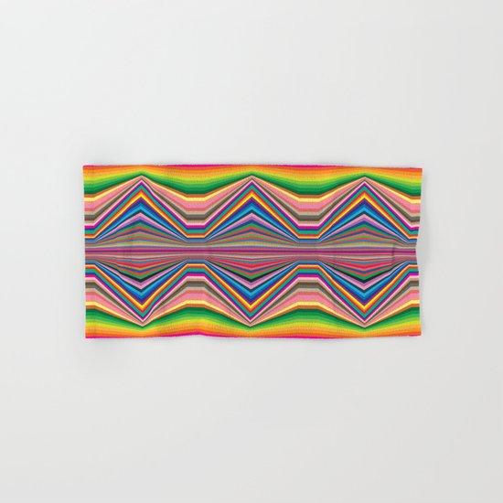 Colorful optic work Hand & Bath Towel