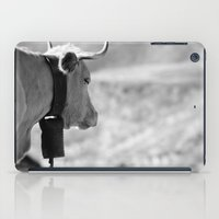 cow iPad Cases featuring Cow by Crazy Thoom