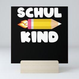 Cool First Grader Shirt, Back To School,Schoolkids Mini Art Print