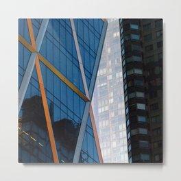 Manhattan Windows - Diamonds Metal Print