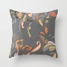 Color Blocking | Floral Shapes Throw Pillow