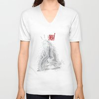 yeti V-neck T-shirts featuring Yeti by Srg44