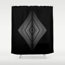 Fading symmetry in geometric diamond shapes Shower Curtain