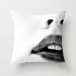 the unbearable kiss of a stranger Throw Pillow