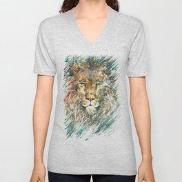 Lion. Unisex V-Neck