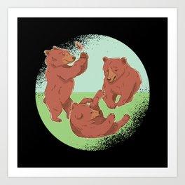 Playing Bears Art Print
