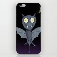 bat iPhone & iPod Skins featuring Bat by Bwiselizzy