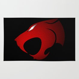 ThunderCats Symbol Red and Black no border Rug