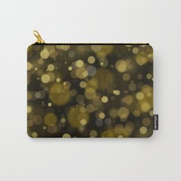 Elegant black gold yellow abstract bokeh pattern Carry-All Pouch