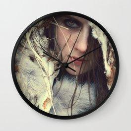 Coyote Girl Wall Clock