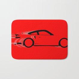 Fast Red Car Bath Mat