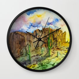 Good Morning Superstition Mountains Wall Clock