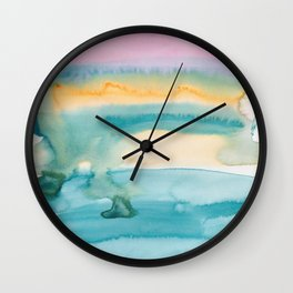 3   | Abstract Minimal Watercolor Painting | 191222 Wall Clock