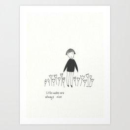 little walks Art Print