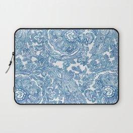 Blue Boho Paisley Pattern II Laptop Sleeve
