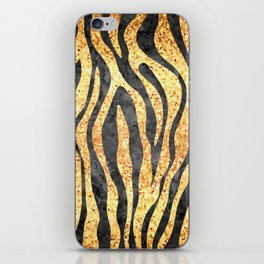 Gold Mosaic Stripes iPhone Skin