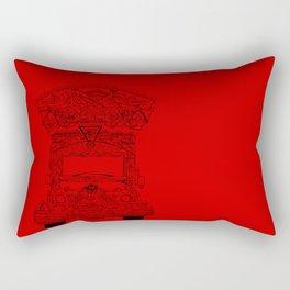 Pakistani Truck. (Red) Rectangular Pillow