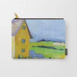 Yellow Farmhouse with Rooster Carry-All Pouch