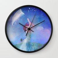 dreamcatcher Wall Clocks featuring Dreamcatcher by Aimee Stewart