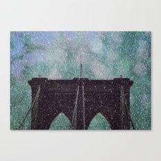 Snowy Brooklyn Canvas Print
