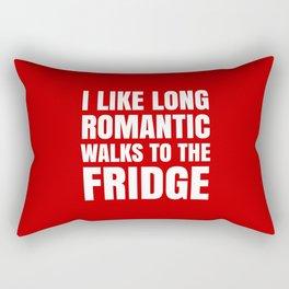 I LIKE LONG ROMANTIC WALKS TO THE FRIDGE (Red) Rectangular Pillow
