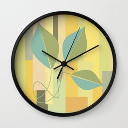 Leaves in color Wall Clock