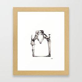 Beware the Blanks Framed Art Print