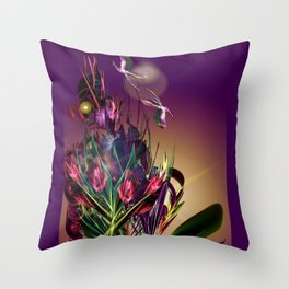 Sunset Butterflies Throw Pillow