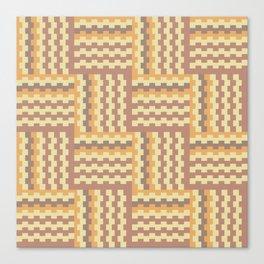 Geometric crisscross pattern Canvas Print