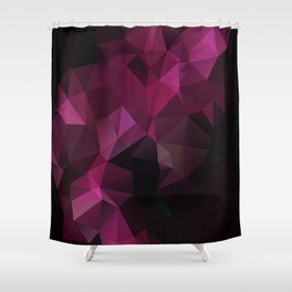 Abstract background of triangles polygon design bright colors Shower Curtain