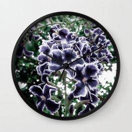 Navy Floral Arrangement Wall Clock