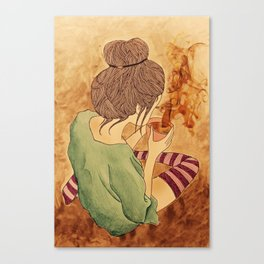 Coffee Girl - Maahy Canvas Print