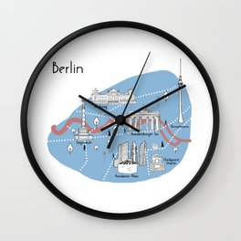 Mapping Berlin - Original Wall Clock
