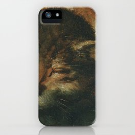 Cat in the art – Vermeyen- holy family - detail iPhone Case