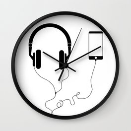 Music and love Wall Clock
