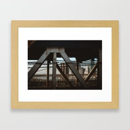 View From the B Train Framed Art Print