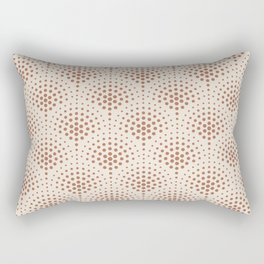 Cavern Clay SW 7701 Polka Dot Scallop Fan Pattern on Creamy Off White SW7012 Rectangular Pillow